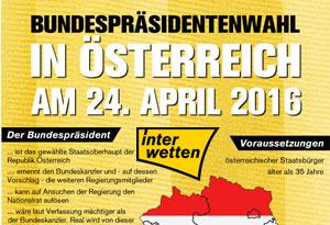 Nächster Österreichischer Bundespräsident zu den Wahlen – Von Interwetten