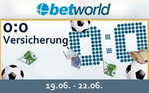 Die 0:0 Versicherung von Betworld zur EM 2016