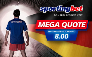Mit Mega Quote auf den EM Titel 2016 für Deutschland bei Sportingbet