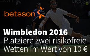 Risikofreie Mobilwetten für Wimbledon 2016 bei Betsson sichern