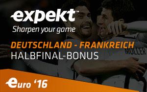 Bonuswette bei Expekt für Deutschland – Frankreich bei EM 2016