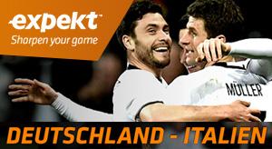 EM 2016 Viertelfinale-Bonus von Expekt für das Spiel Deutschland – Italien