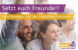 Bei HappyBet Fancouch einfach VIP-Tickets oder einen Bonus gewinnen