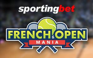 Freebets in Höhe von 20 Euro jeden Tag während der French Open bei Sportingbet erhalten