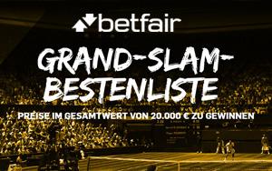 Die neue Betfair Grand-Slam Aktion: Gewinnen Sie Preise in Höhe von 20.000 Euro