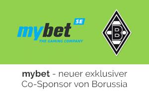 Borussia Mönchengladbach präsentiert mybet als neuen Co-Sponsor