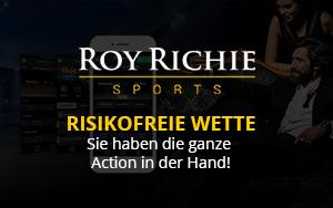 Roy Richie erstattet die mobile Erstwette um maximal 10€ als Gratiswette