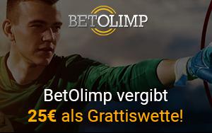 BetOlimp vergibt zur Bundesliga Saison 25€ als Grattiswette!
