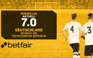 Gewinnt Deutschland in Tschechien? Betfair lockt Neukunden mit verbesserter Quote!