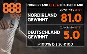 888sport Neukunden-Angebot: Jetzt erhöhte Quoten im Spiel Deutschland – Nordirland sichern
