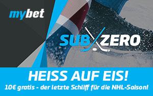 """Die """"HEISS AUF EIS"""" Aktion von mybet: Der erste NHL-Spieltag verspricht eine 10€ Gratiswette"""