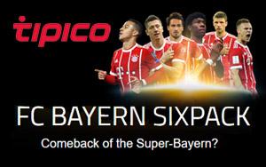 Mit der Sixpack Aktion von Tipico gibt es ordentliche Gewinne bei den Spielen von FC Bayern