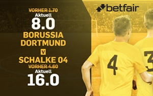 Betfair empfängt Sie jetzt mit Turbo-Quoten für Borussia Dortmund vs. Schalke 04