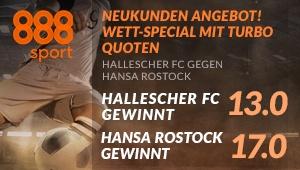 Die Fans von Hallescher FC und Hansa Rostock wetten mit Turbo-Quoten bei 888sport