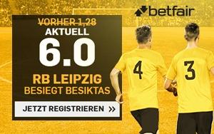 Betfair bietet spezielle Quoten für RB Leipzig gegen Besiktas