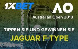 Vortreffliche Gewinne bei der Australian Open Aktion von 1xBet
