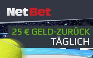NetBet Aktion: Geld-zurück-Garantie in Form einer Gratiswette für Einsätze auf Australian Open