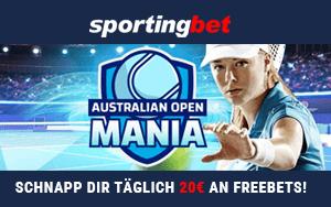 Sportingbet vergibt FreeBets für Ihren Wetteinsatz im Rahmen der Australian Open-Saison