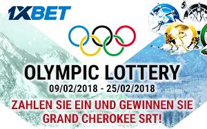 """Tolle Preise bei der Aktion """"Olympic Lottery"""" von 1xBet zu gewinnen"""