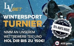 Gewinne tolle Preise beim Wintersport Turnier von LVbet
