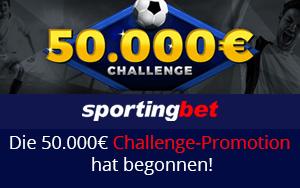 50.000 Euro bei einer Promotion von Sportingbet gewinnen