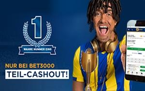 Testen Sie die beliebte Teil-Cashout Option jetzt bei Bet3000