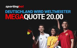 Bonusaktion zur WM von Sportingbet für Neukunden