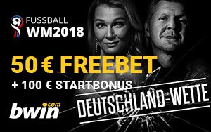 100€ Startbonus für die Deutschland Wette bei Bwin!