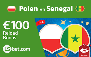 LSbet bietet bis zu 100€ für das Spiel Polen gegen Senegal