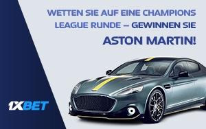 Mit Champions League-Prognosen einen Aston Martin gewinnen – jetzt bei 1xBet