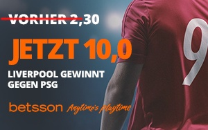 Betsson Quoten Boost zum Top-Spiel FC Liverpool gegen Paris