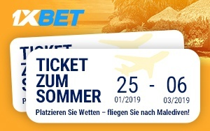 Sommer Aktion bei 1xBet – Bonuspunkte und Tickets sammeln und gewinnen