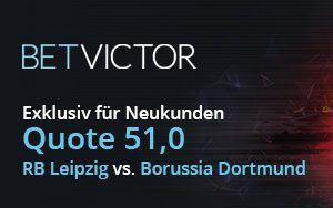 BetVictor erhöht die Quote von Borussia Dortmund gegen Leipzig auf 51.0
