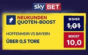 Hoffenheim vs. Bayern tippen, und vom Neukundenangebot bei Skybet profitieren