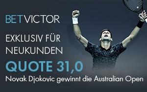Unglaubliche Quote von 31,0 bei BetVictor für Novak Djokovic