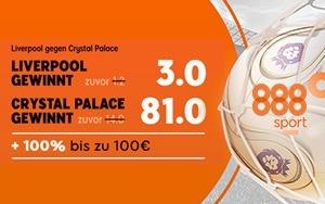 888sport erhöht die Quoten beim Liverpool-Spiel