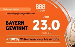 Liverpool gegen Bayern München: Hoher Gewinn bei 888sport möglich