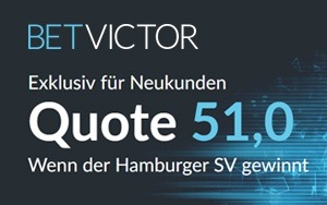 Turbo-Quote für das Spiel HSV gegen Dresden jetzt bei BetVictor
