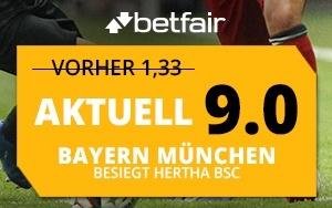 Betfair Neukunden-Aktion: Extra spannendes DFB-Pokal Achtelfinale dank Quotenboost