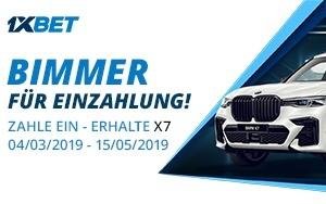 Gewinne einen BMW X7 mit 1xBet