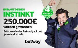 Betway 4 Knipser Tippspiel: Gigantischer Jackpot wurde geknackt