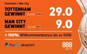 Turbo-Quoten für das Spiel von Manchester City in der Champions League bei 888sport