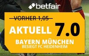 Betfair mit einem tollen Quoten Boost für das nächste Bayern München Spiel