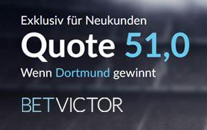 Sichern Sie sich Turbo-Quote für einen BVB Sieg jetzt bei BetVictor