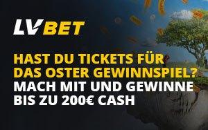 Osterüberraschung von LVBet – 200€ gewinnen durch das Sammeln von Tickets