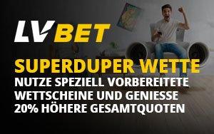 Die Superduper Bet – 20% höhere Gesamtquoten bei LVbet