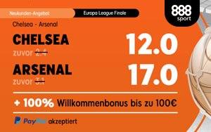 Turboquoten für Europa League Finale bei 888sport