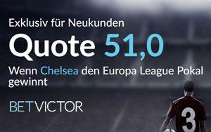 BetVictor und der Europa League Pokal – Top Quote auf den Sieg von Chelsea