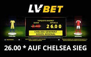 Top-Quote 26.0 für den Sieg von Chelsea im Europa League Finale bei LVbet