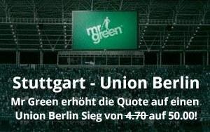 Mr Green Sport mit toller Quote in der Bundesliga Relegation